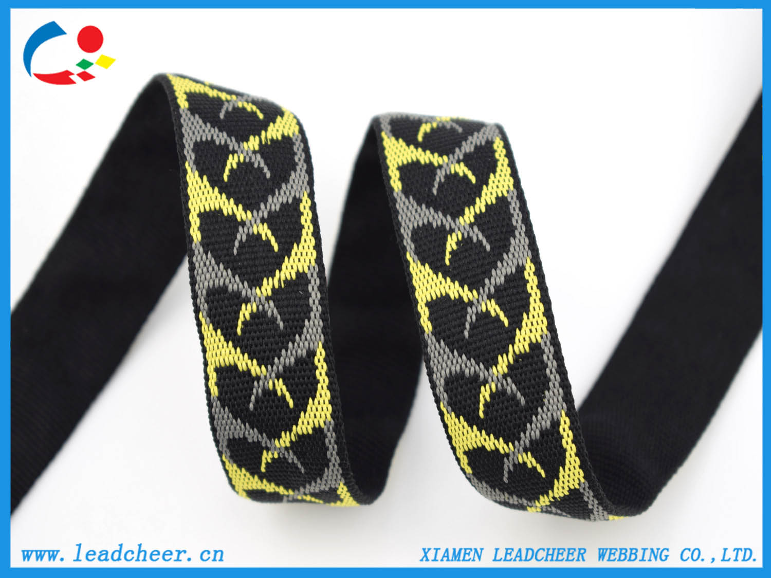 Jacquard Polyester straps for Shoes Sandals