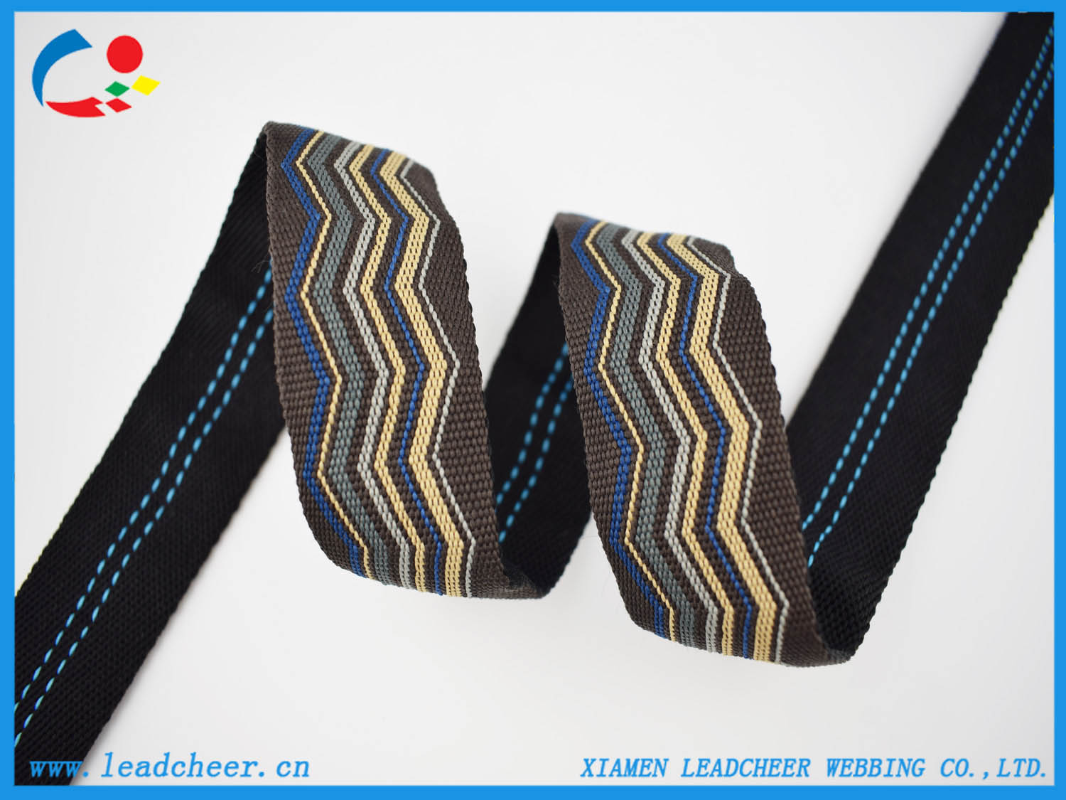 Jacquard strap webbing for sandals