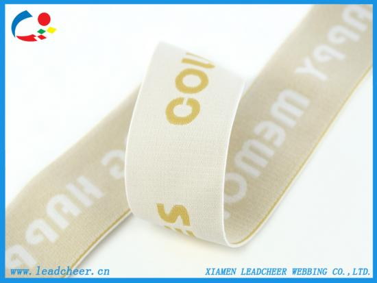 elastic webbing with customized logo