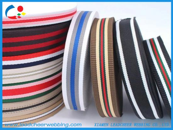 multiple colors polypropylene webbing