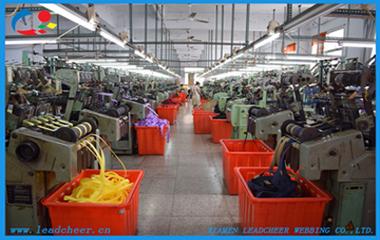 Leadcheer webbing production line